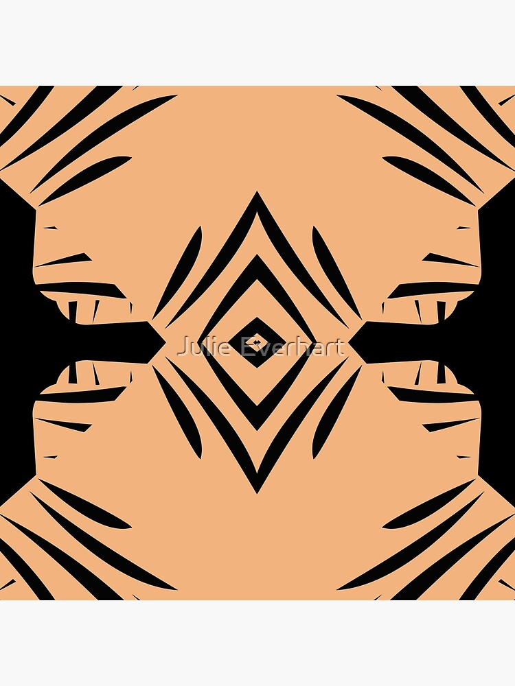 Peachy Tan with Black Stripes by julev69