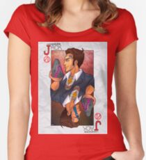 Handsome Jack card Fitted Scoop T-Shirt
