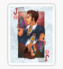 Handsome Jack card Sticker