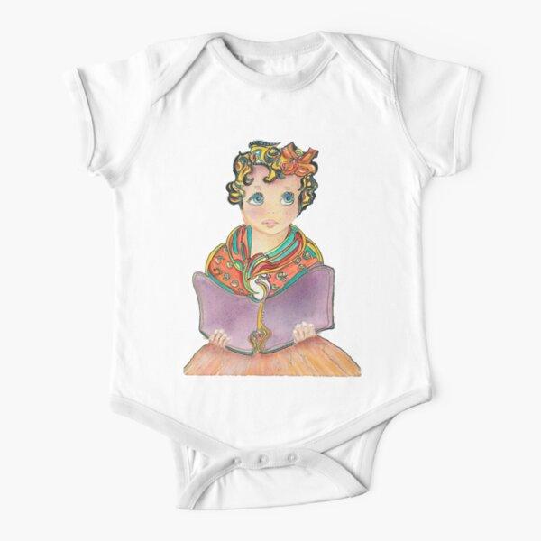 Fairy Book Girl Short Sleeve Baby One-Piece