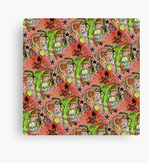 Merry Demon Goat Patchwork Canvas Print