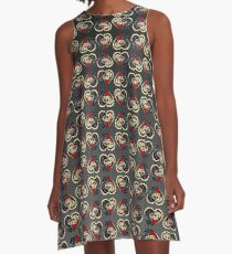 Ashes - Day of the Dead Couple - Sugar Skull Lovers A-Line Dress
