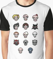 The Binding of Isaac characters + Graphic T-Shirt