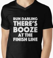 Absolutely Fabulous - Run darling there's booze at the finish line Men's V-Neck T-Shirt