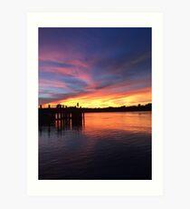 Sunsets in Australia Art Print