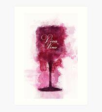 Viva Vino Weinglas Kunstdruck