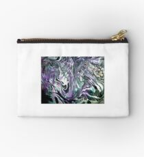 Marbling in black and purple Studio Pouch
