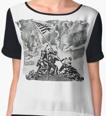 Iwo Jima Women's Chiffon Top