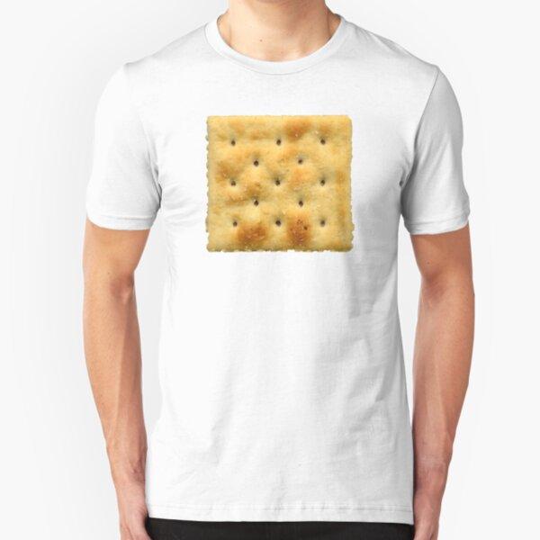 White Saltine Soda Cracker Slim Fit T-Shirt