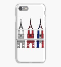 France_icons_outline iPhone Case/Skin