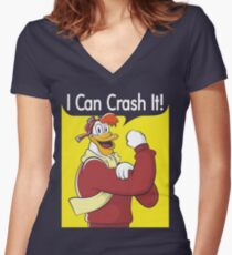 I Can Crash It! Women's Fitted V-Neck T-Shirt