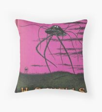 The War of the Worlds by HG Wells Throw Pillow