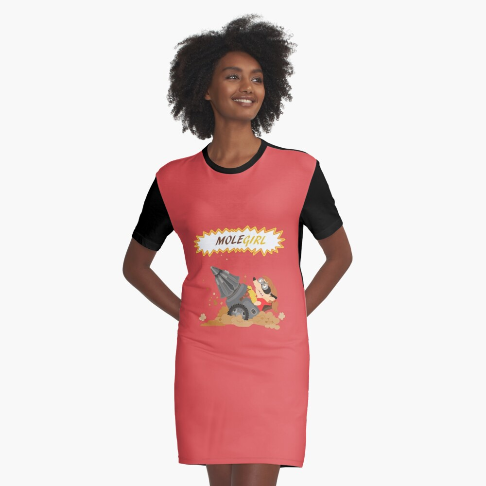 Molegirl Graphic T-Shirt Dress
