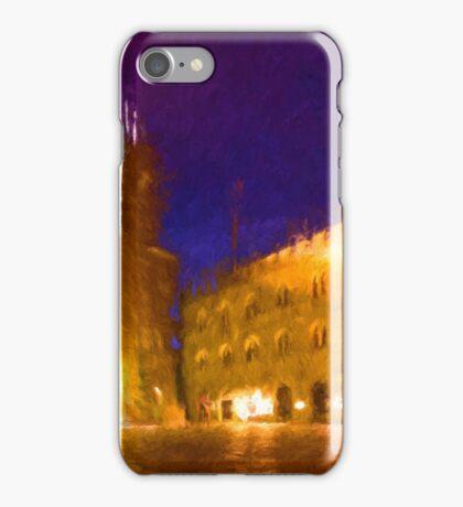 Volterra Tuscany, Piazza Dei Priori By Night iPhone Case/Skin