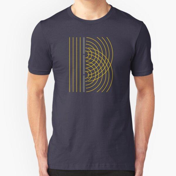 Double Slit Light Wave Particle Science Experiment Slim Fit T-Shirt
