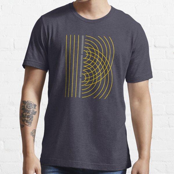 Experimento de ciencia de partículas de onda de luz de doble hendidura Camiseta esencial