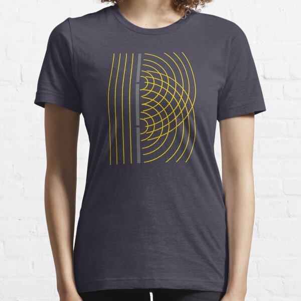 Expérience scientifique sur les particules d'onde lumineuse à double fente T-shirt essentiel