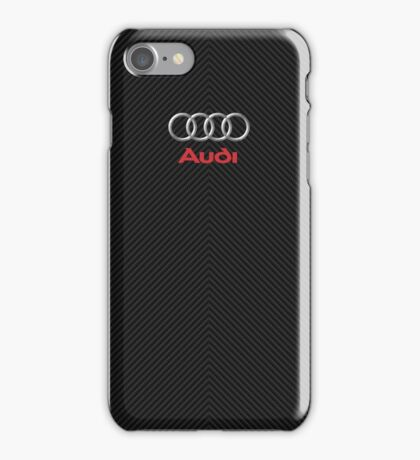 Audi carbon fiber case iPhone Case/Skin