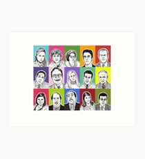 Office cast Art Print