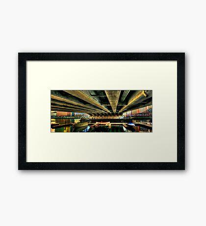 Under the bridge! Framed Print