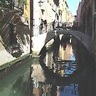 Canal with Reflection Venice by dunawori