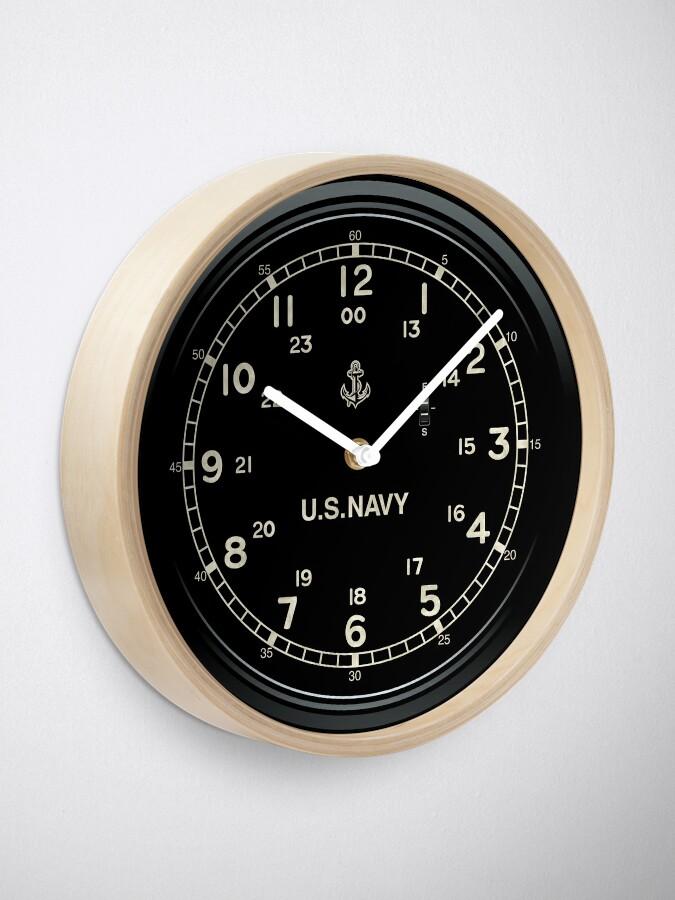 Alternate view of Retro U.S. NAVY Clock imitation Clock
