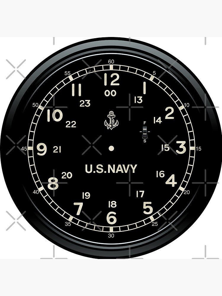 Retro U.S. NAVY Clock imitation by Mechanick