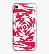 red abstract geomtric illusion iPhone Case/Skin