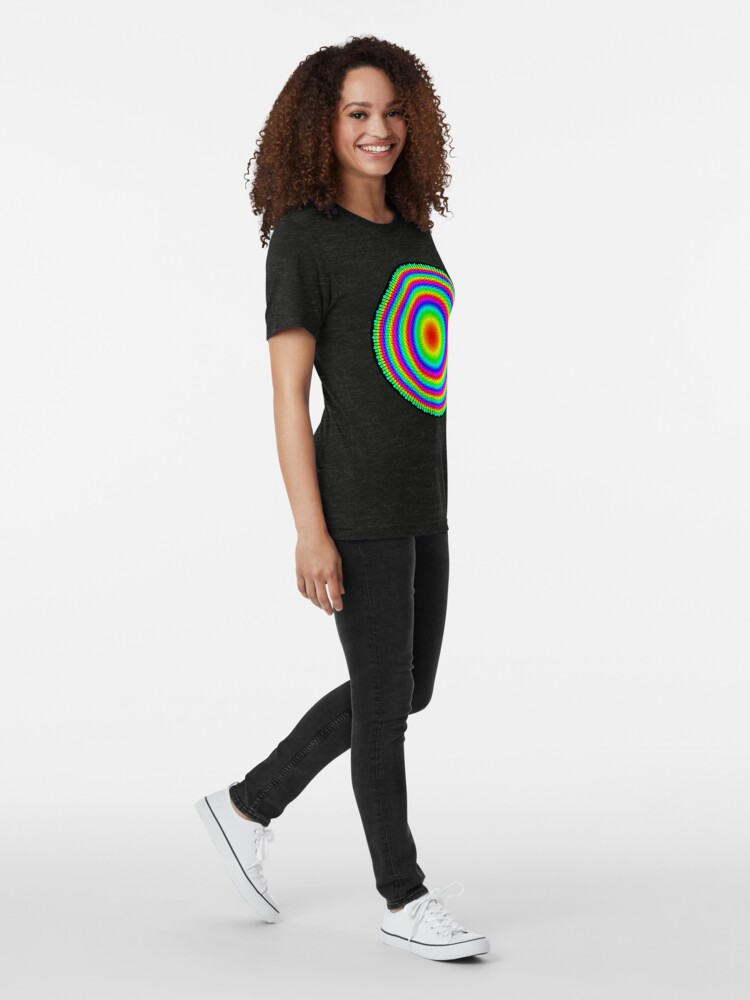Alternate view of Phyllotaxis-002 Tri-blend T-Shirt