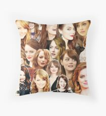 emma stone collage Throw Pillow