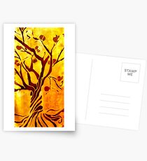 Golden tree of Life Postcards