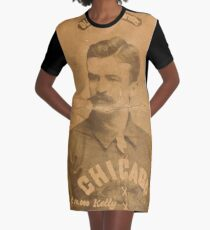 Benjamin K Edwards Collection King Kelly Chicago White Stockings baseball card portrait Graphic T-Shirt Dress