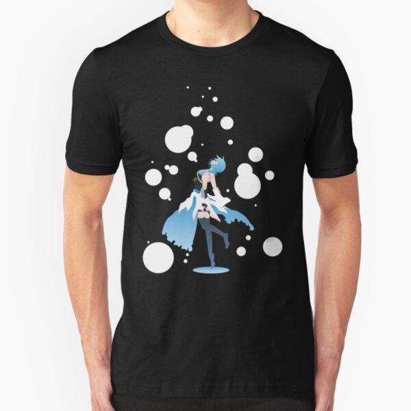 Aqua Kingdom Hearts Slim Fit T-Shirt