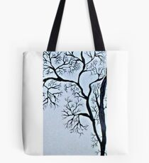 Trees in black and white Tote Bag