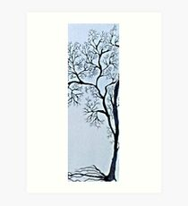 Trees in black and white Art Print