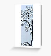 Trees in black and white Greeting Card
