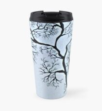 Trees in black and white Travel Mug