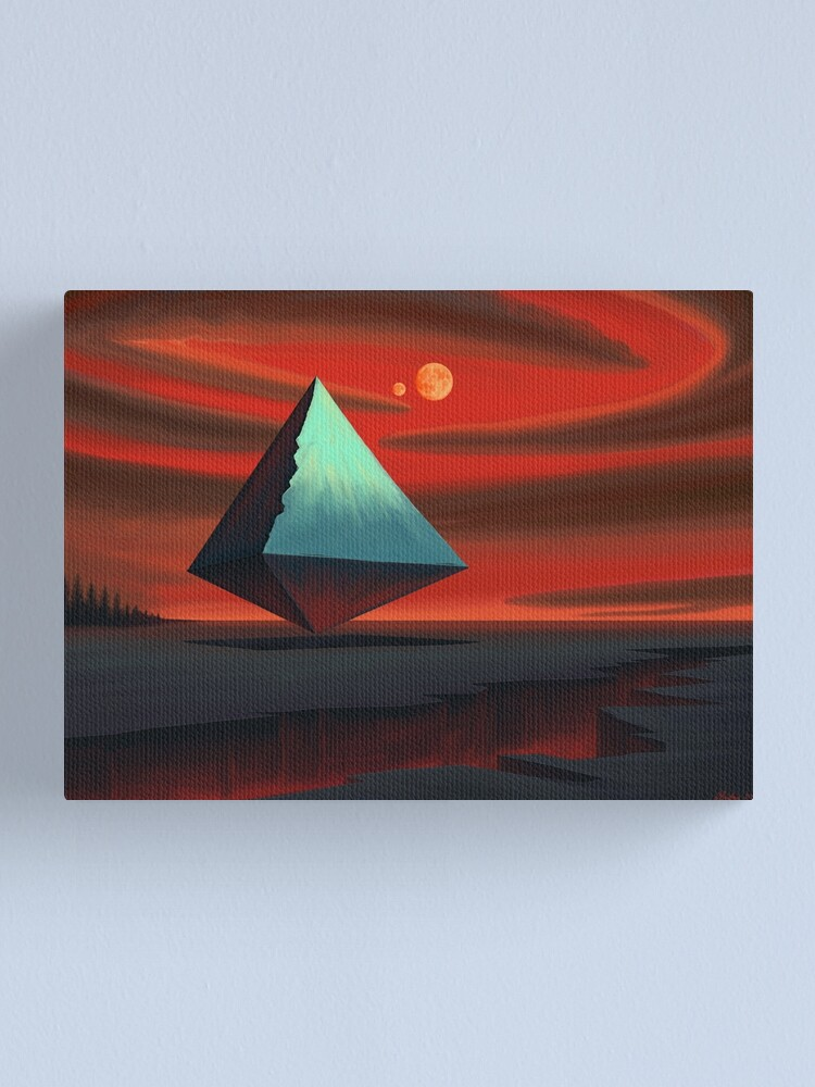 Alternate view of Moon Pyramid Canvas Print