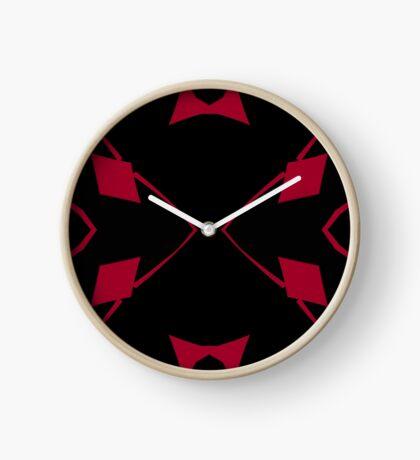Red and Black Design 2 by Julie Everhart Clock