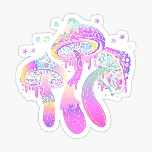Magic mushrooms pattern Sticker