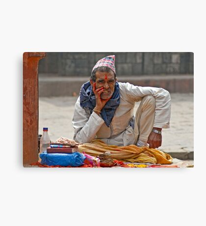 Fortune teller in Patan, Nepal Canvas Print