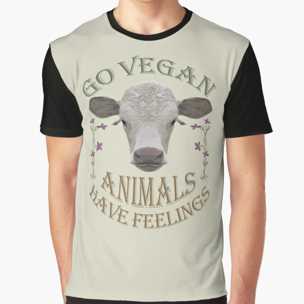 GO VEGAN - ANIMALS HAVE FEELINGS Grafik T-Shirt