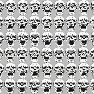 Many laughing Skulls von Exilant