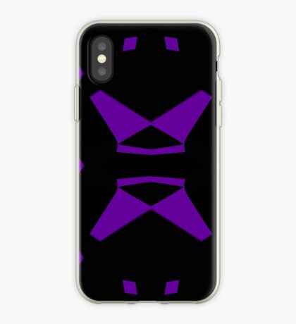 Purple and Black by Julie Everhart iPhone Case