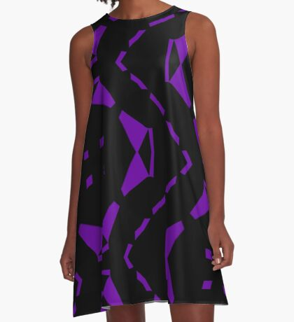 Purple and Black by Julie Everhart A-Line Dress
