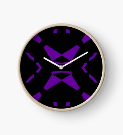 Purple and Black by Julie Everhart Clock