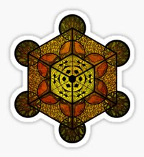 Sacred Geometry TerraCube Sticker