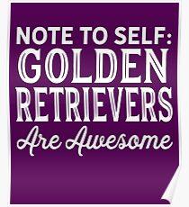 Golden Retrievers Poster