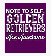 Golden Retrievers Photographic Print