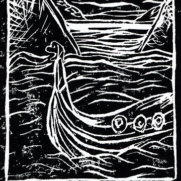 Viking Boat Runes  by BGauntlett